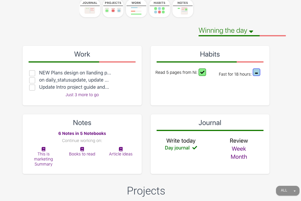 Project management sprinkled with productivity and a dash of self-improvement