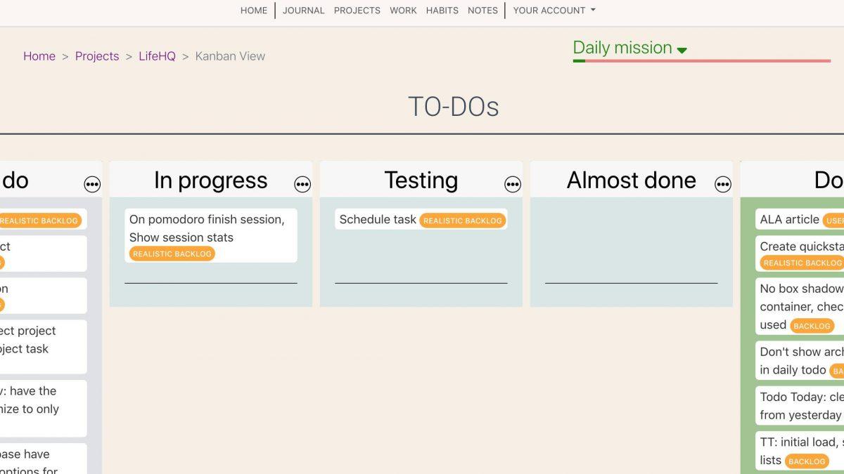 Roadmap update #7: Kanban boards, UI refreshment, Toggle project deadline