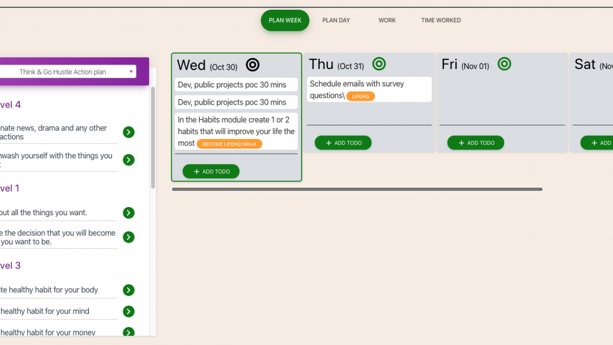 Roadmap Update #8: Scheduling tasks and weekly planner update