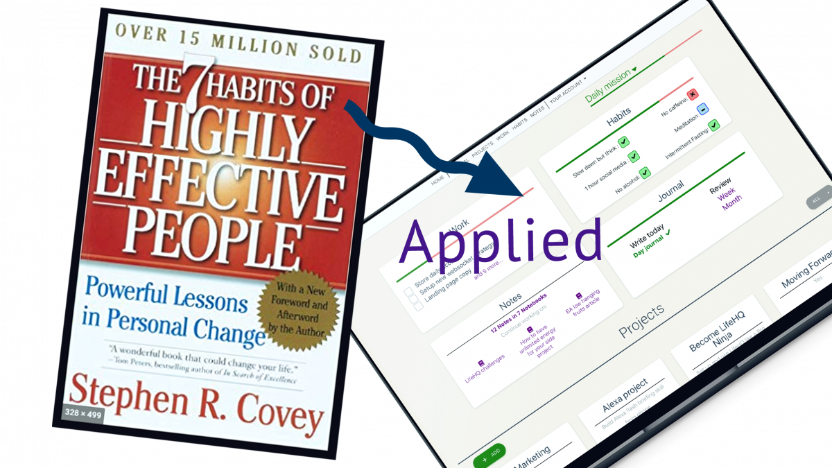 Implementing the 7 Habits of Highly Effective People in real life